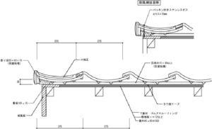 日本瓦屋根のケラバ