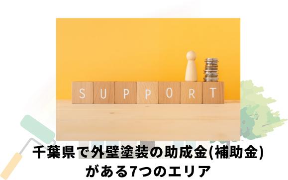 船橋市以外で千葉県で外壁塗装助成金(補助金)が出るエリア一覧
